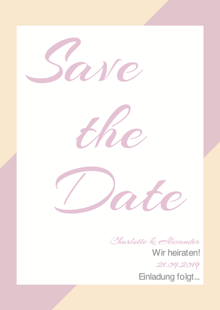 Striped Pastell | Printable DIY Save the Date Karte