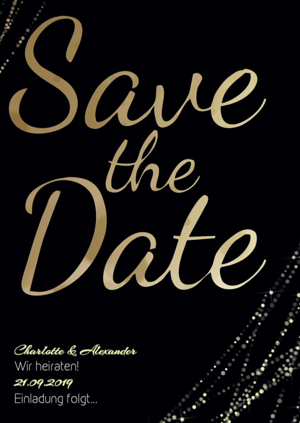 Flashing Lights | Printable DIY Save the Date Karte