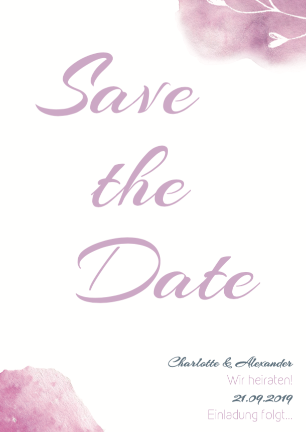 Clean Love | Printable DIY Save the Date Karte