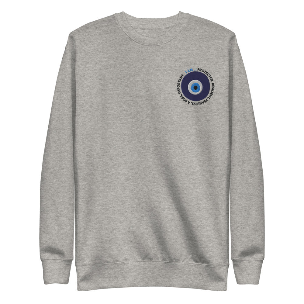 Evil Eye Embroidered Crewneck Sweatshirt
