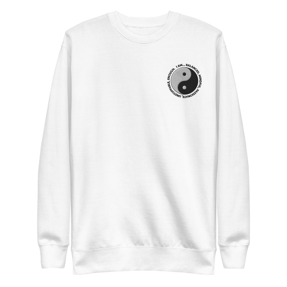 Yin & Yang Embroidered Crewneck Sweatshirt