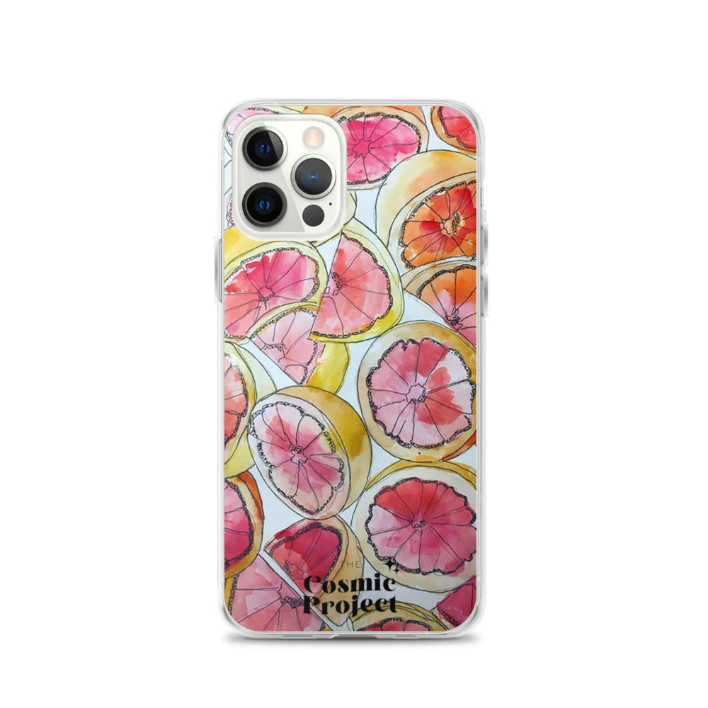 Grapefruit Watercolor iPhone Case