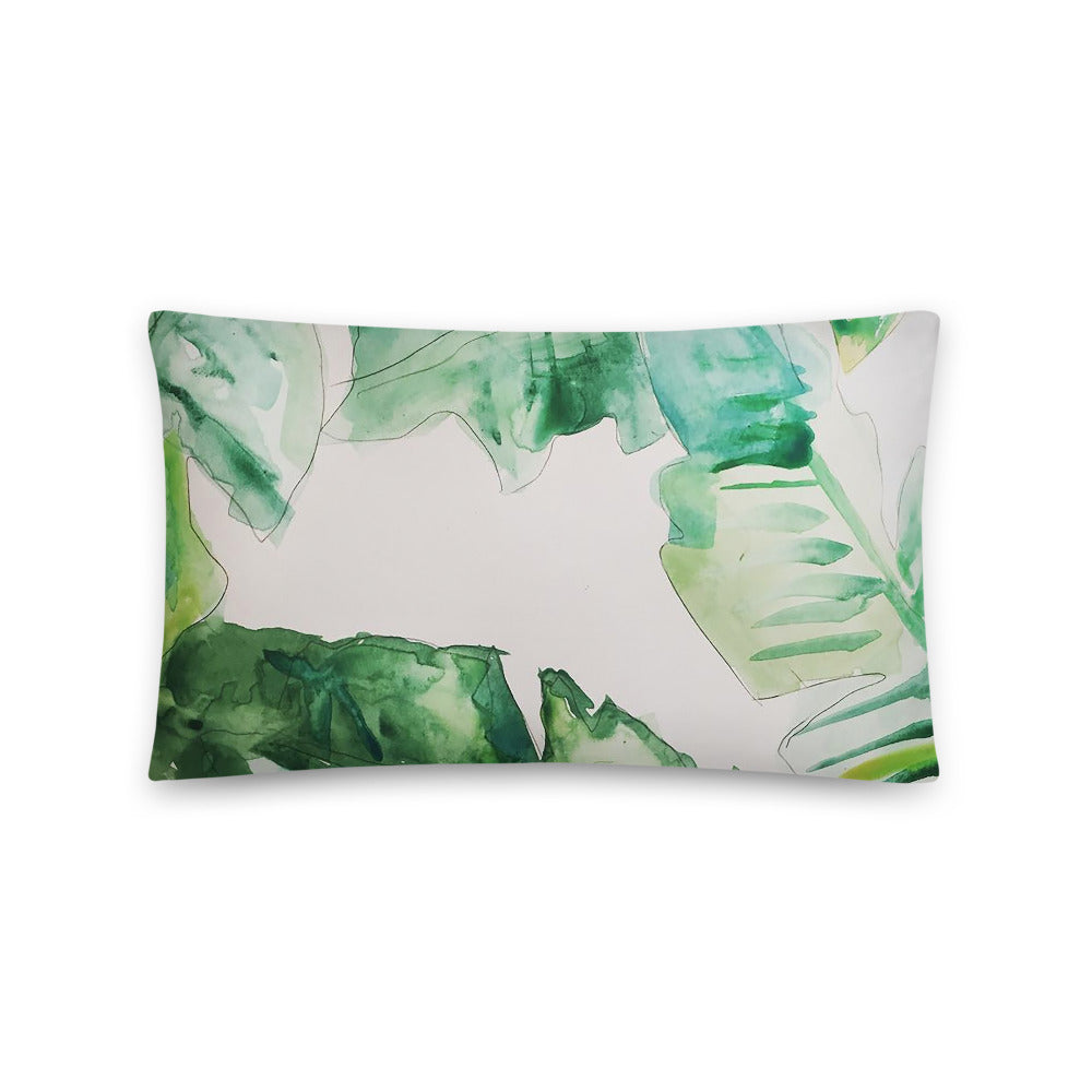 Leaf Watercolor Pillow