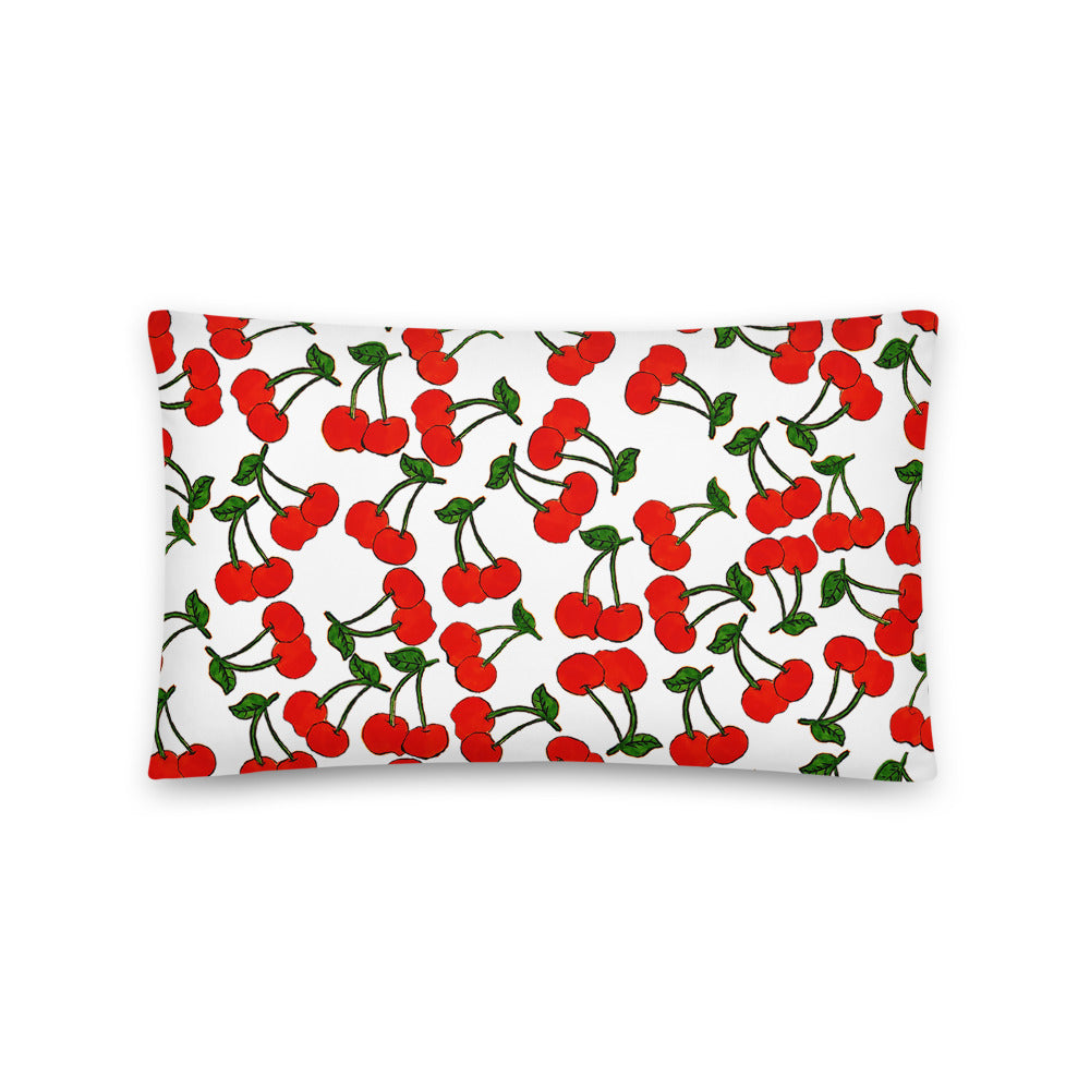 Cherry Graphic Pillow