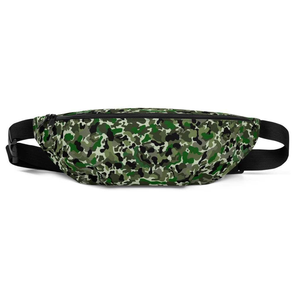 Green Camouflage Fanny Pack