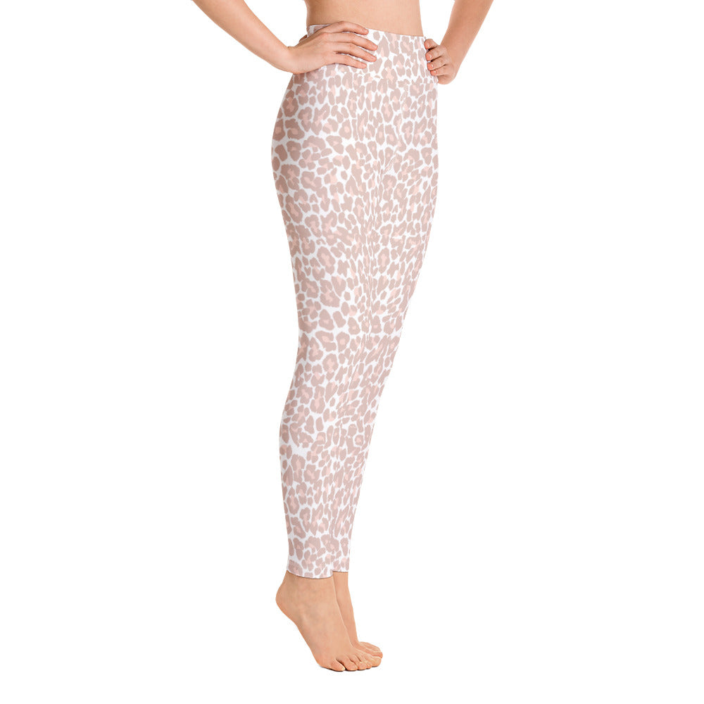 Pink Leopard Yoga Leggings