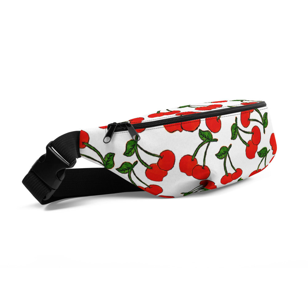 White Cherries Fanny Pack