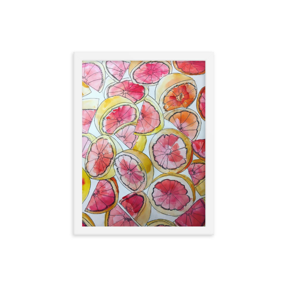 Grapefruit Watercolor