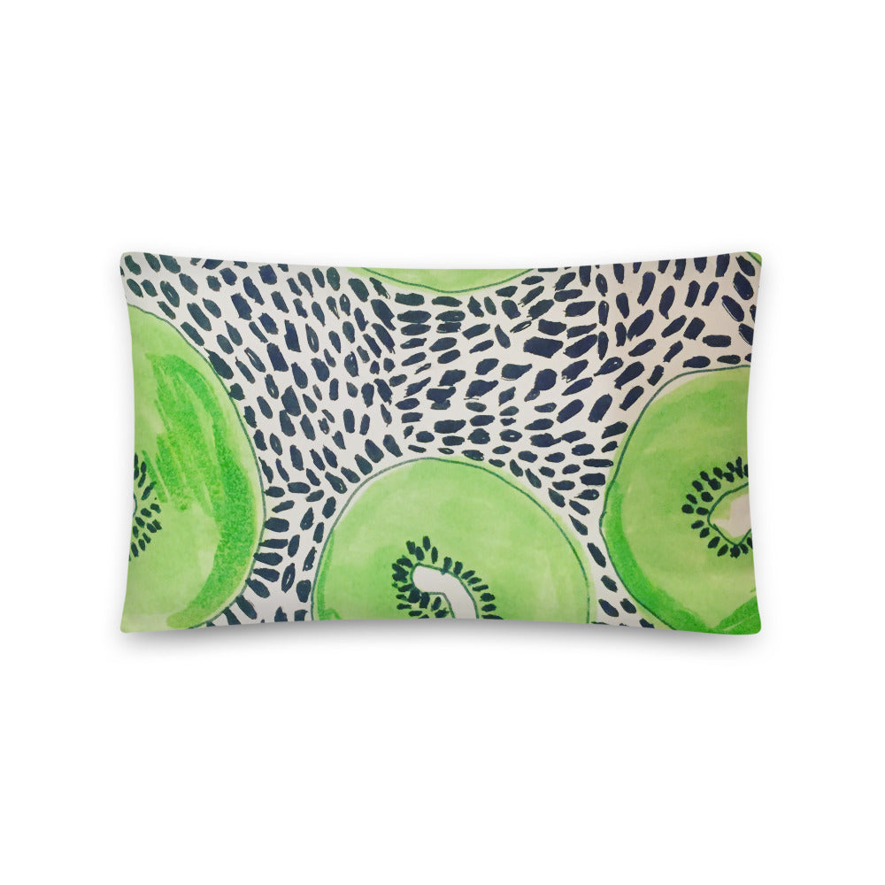 Kiwi Watercolor Pillow