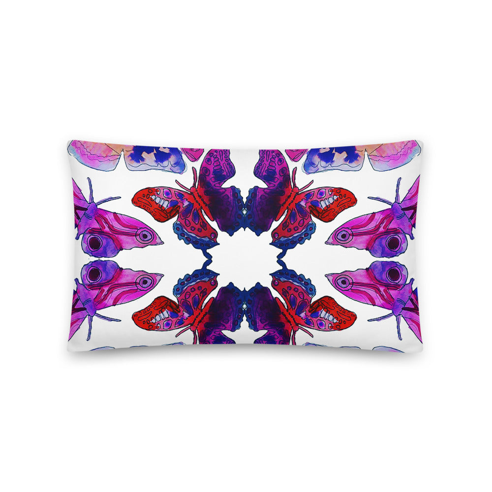Butterfly Watercolor Pillow