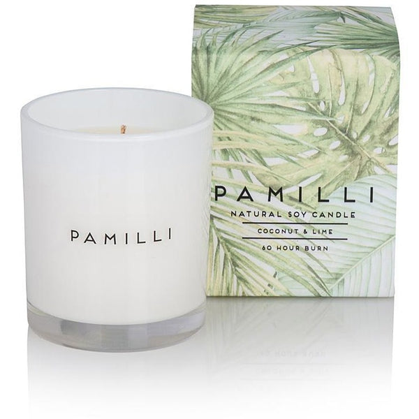 Pamilli - 60 hour soy candle - Coconut & Lime