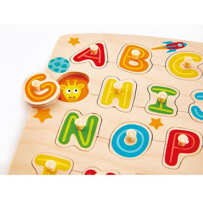 Colourful and Educational Alphabet Peg Puzzle