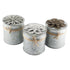 Rustic Tin Candles with Flower Lid