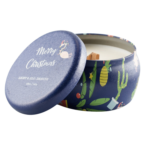 Christmas Travel Tin Candles