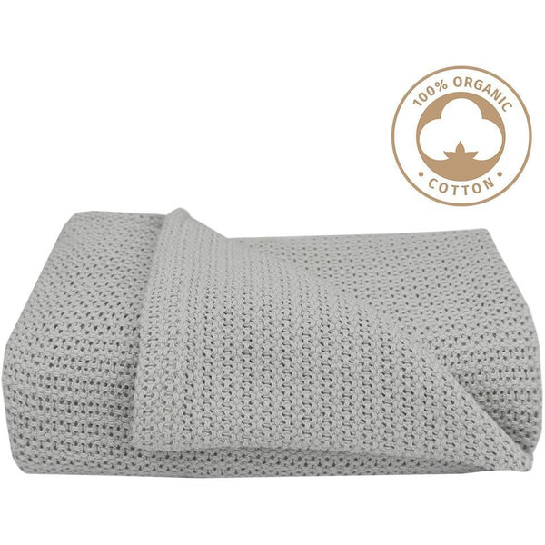 Organic Cot Cell Blanket - Grey