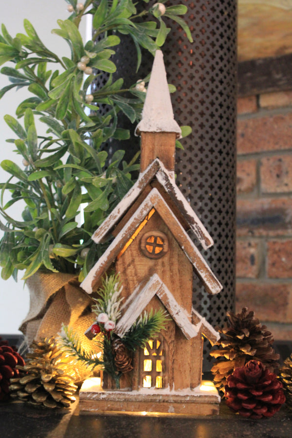 Rustic Timber Christmas Chapels & Log Cabin