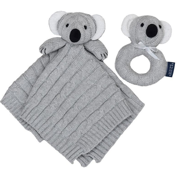 Baby Security Blanket & Rattle Gift Set