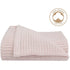 Organic Cot Cell Blanket - Rose Quartz