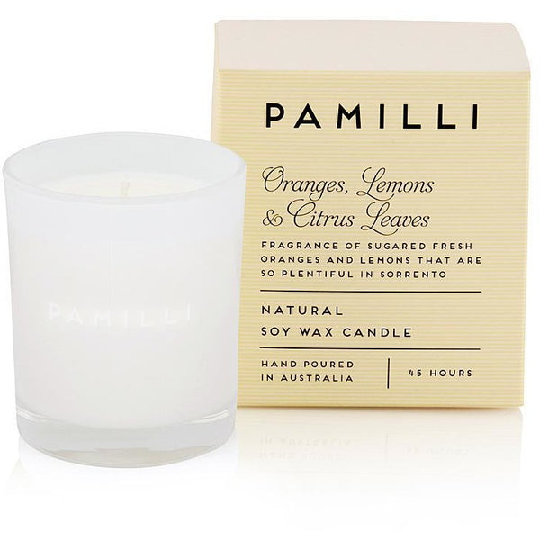 Oranges Lemons and Citrus Leaves Soy Candle in box-45 hour burn