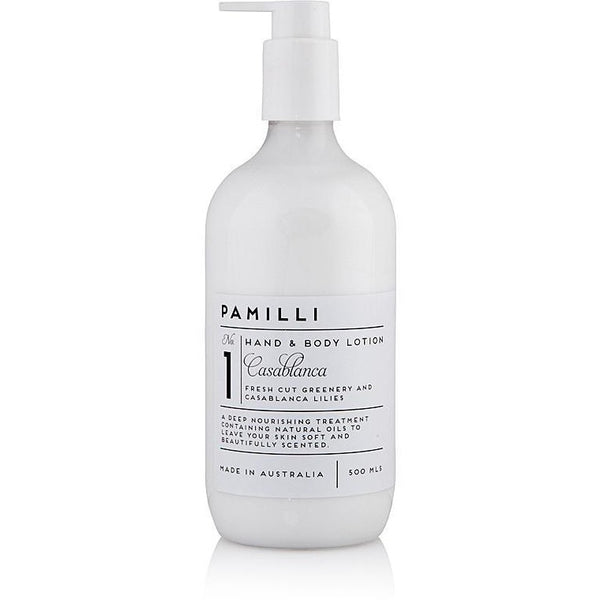 Natural Hand & Body Lotion-Casablanca Lillies