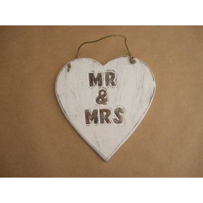 Heart Mr and Mrs (carved)