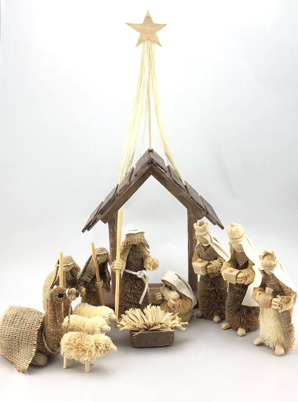 Traditional HANDMADE Nativity Scene