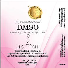 DMSO 100ml 100% Strength 99.995% Purity Pharmaceutical Grade Dimethyl Sulfoxide