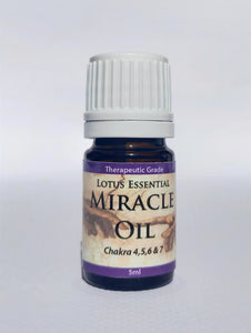 Essential Oils Lotus Miracle Oil (5ml)  3 specific oils blended to enhance higher chakra function