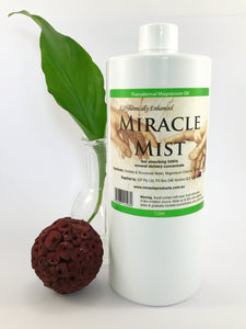 Miracle Mist Spray Transdermal Magnesium Oil (Click Size: 60ml, 250ml or 1L)