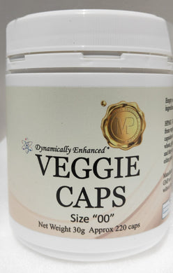 "Capsules Veg Size ""00"" (30g approx 220 caps)"