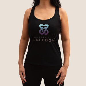 Black Flow 2 Freedom Apparel bamboo logo tank
