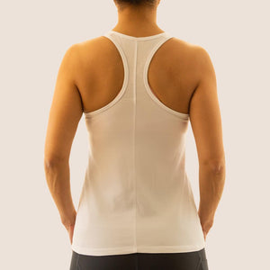 White Flow 2 Freedom Apparel aspire bamboo logo tank back view