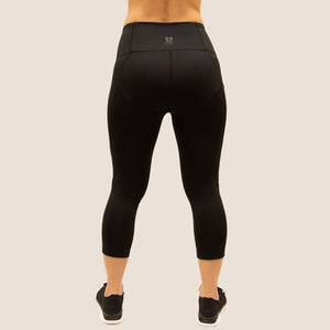 Black Flow 2 Freedom Exhale Cropped Period Proof Legging back view