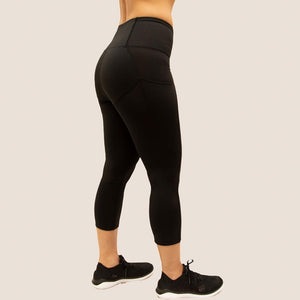 Black Flow 2 Freedom Exhale Cropped Period Proof Legging Side View