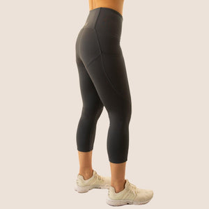 Charcoal Grey Flow 2 Freedom Exhale Cropped Period Proof Legging side view