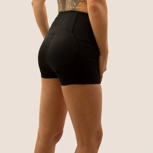 Black Flow 2 Freedom Exhale period proof shorts side view