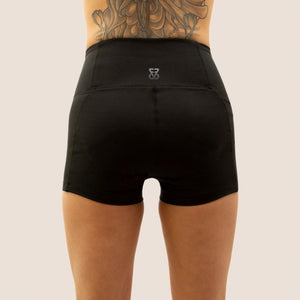 Black Flow 2 Freedom Exhale period proof shorts back view