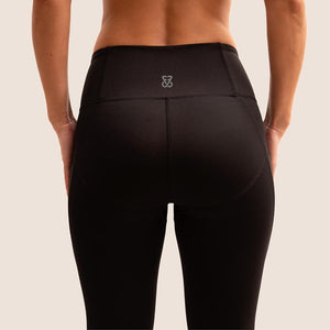 Black Flow 2 Freedom Exhale full length period proof legging back view