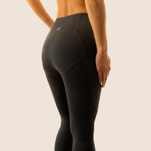 Charcoal grey Flow 2 Freedom Exhale full length period proof legging side view
