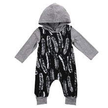 FEATHER Hooded Romper - Carrie Co Baby