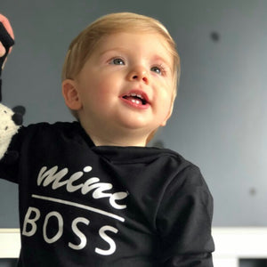 MINI BOSS Hoodie black or white - Carrie Co Baby
