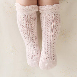 LAURA Knit knee high socks