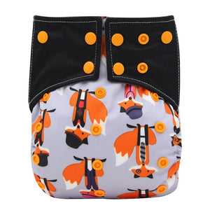 FOX ENVIRONMENTALLY FRIENDLY NAPPY Washable Reusable Pocket Cloth Nappy with Built-in Microfiber Insert - Carrie Co Baby