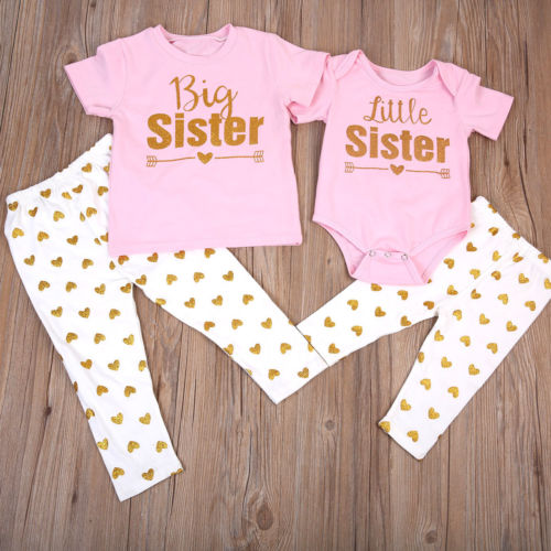 BIG SISTER LITTLE SISTER top + pants / romper + pants