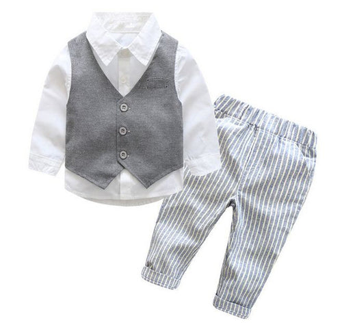 LITTLE JACK Vest+Shirt+Pants 3 PC Suit - Carrie Co Baby