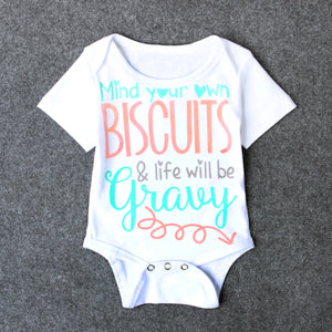 MIND YOUR OWN BISCUITS Romper