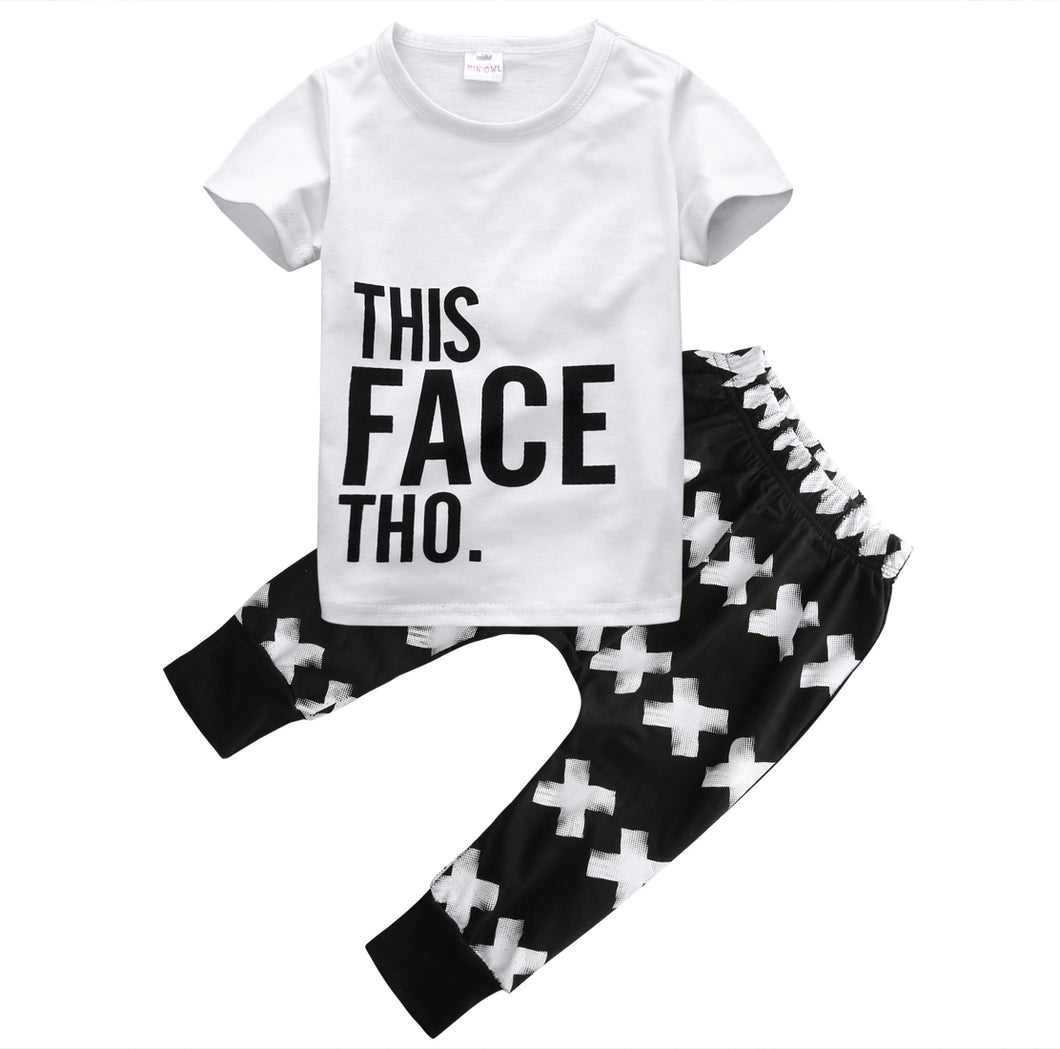 THIS FACE THO. Top+Pants - Carrie Co Baby