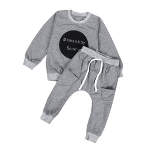MAMA'S BOY SO WHAT Top + pants set