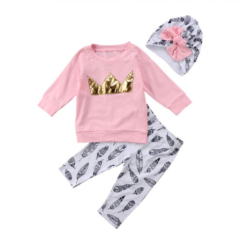 ROYAL FEATHERS 3PC set - Carrie Co Baby