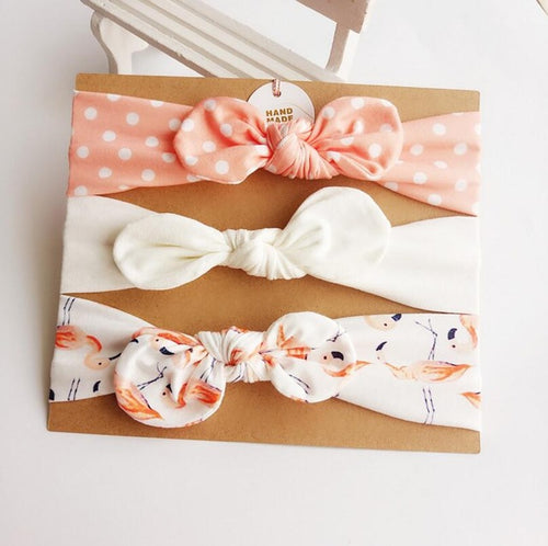 Topknot Headband set - handmade